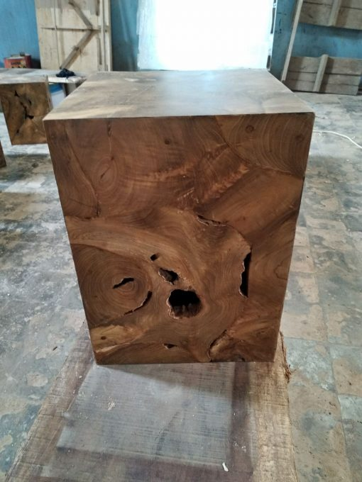 Teak Root Accent Table Square - Woodify Canada