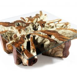 Square Teak Root Coffee Table _ Woodify Canada