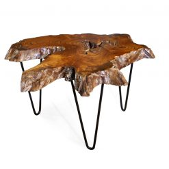 Teak Root Coffee Table with pinpoint legs - Woodify Canada