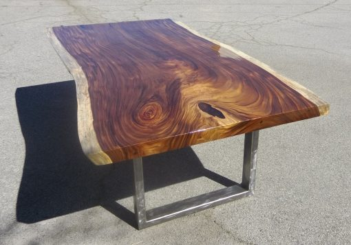 Live Edge Suar with Chrome Legs - Woodify Canada