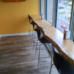 Live Edge Pine Breakfast Bar - Woodify Canada