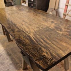 Reclaimed Live Edge Maple Table - Woodify Canada