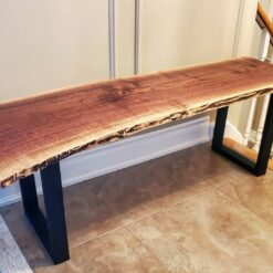 Live Edge Black Walnut Bench - Woodify Canada 1