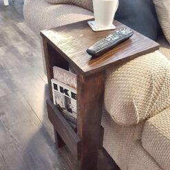 Custom Made Rustic Sofa Side Table - Woodify Canada