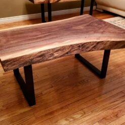Live Edge Coffee Table Black Walnut - Woodify Canada