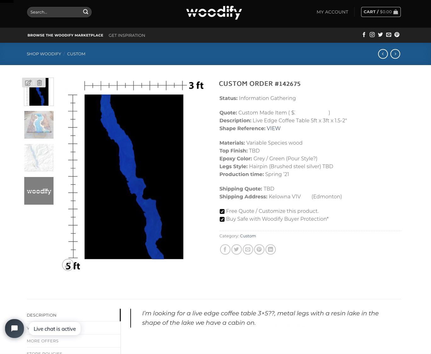 Custom Order Page - Woodify Canada