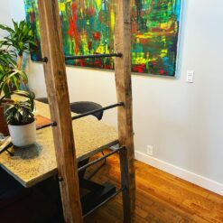 Reclaimed Oak Blanket Ladder - Woodify Canada