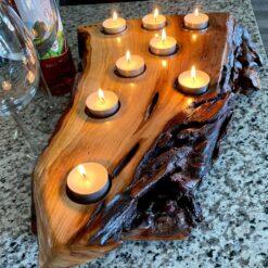 Live Edge Candle Holder - Woodify Canada
