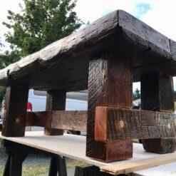 Rustic Reclaimed Wood Bench - Woodify Canada