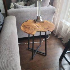 Live Edge Maple Side Table - Woodify Canada