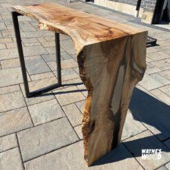 Live Edge Waterfall Epoxy Table - Woodify Canada