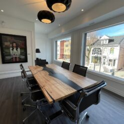 Fonthill Black EPoxy COnference Table - Woodify Canada