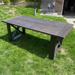 Harvest table is pine stained chocolate - Woodify Canada 1