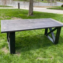 Harvest table is pine stained chocolate - Woodify Canada