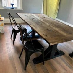 Pine Stained Kitchen Table with Bench - Woodify Canada 1