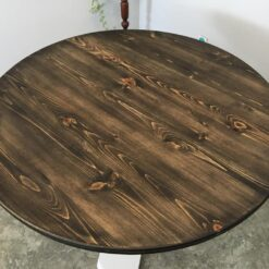 Pine stained ebony 4 person table - Woodify Canada 1