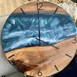 Walnut Epoxy Clocks - Woodify Canada