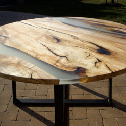 Round River Spalted Hard Maple Double River Table - Woodify Canada
