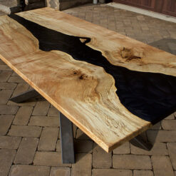 Black Witch Book Matched Maple River Table - Woodify Canada