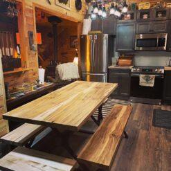 Custom Ambrosia Maple dining table 1- Woodify Canada