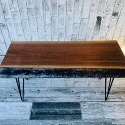 Live Edge Walnut Coffee Table Crooked Wood- Woodify Canada